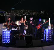 Splash performing on rooftop in Los Angeles